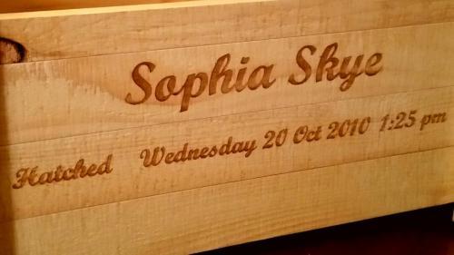 Sophia Skye engraving