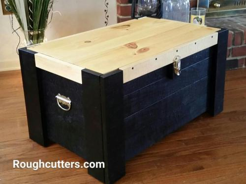 Rough Cutters Handcrafted Personalized Chests are100% Made in America and personalized to you! If you want unique home decor, we have beautiful custom woodworking and custom laser engraving options for your chest. We also have other woodworks like flip top benches and open front benches.